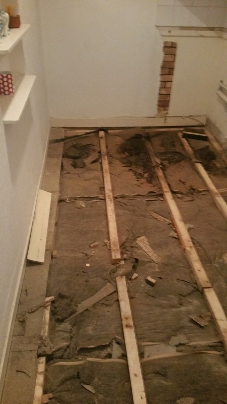 Water Damage in West End, kitchen needs to be removed.